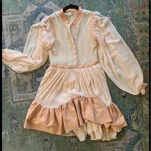 HARD TO FIND FREE PEOPLE dress, bronze and peach 0